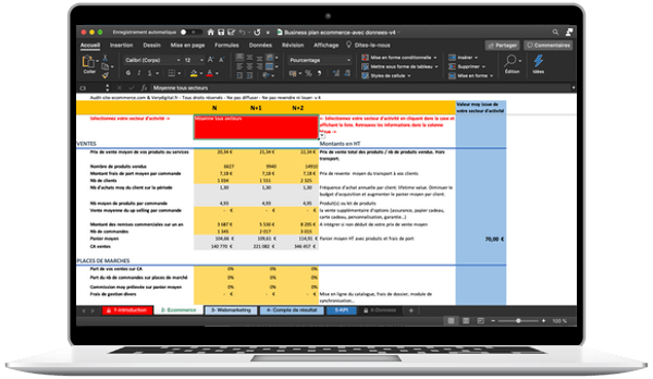 simulateur business plan e-commerce